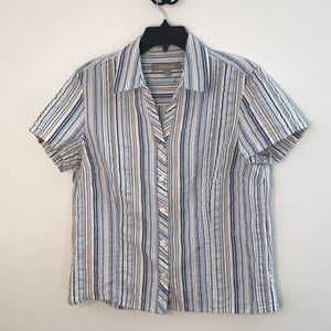 Croft and Barrow button up striped shirt